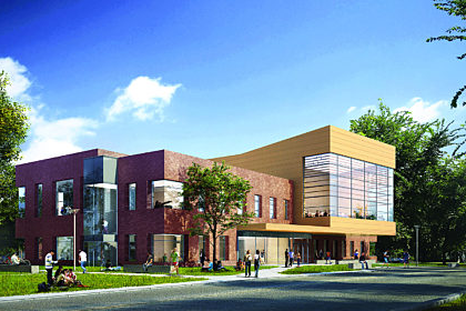 Rendering of new music building
